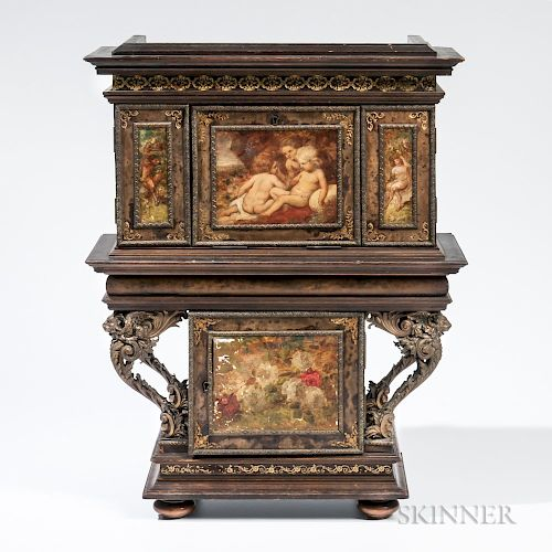 Austrian Painted Miniature Cabinet