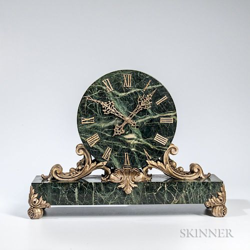 Caldwell & Co.-type Marble and Gilt-bronze Mantel Clock