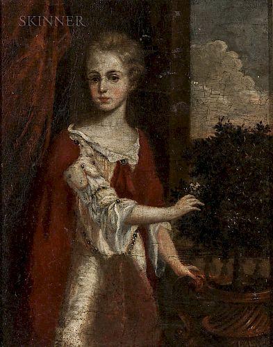 Continental School, 17th/18th Century  Lady with Jasmine
