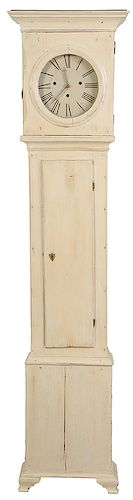 Continental Paint Decorated Tall Case Clock