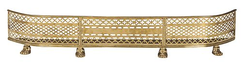 Classical Pierced and Engraved Brass Fire Fender