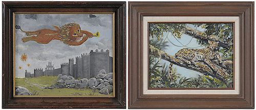 Two Big Cat Paintings