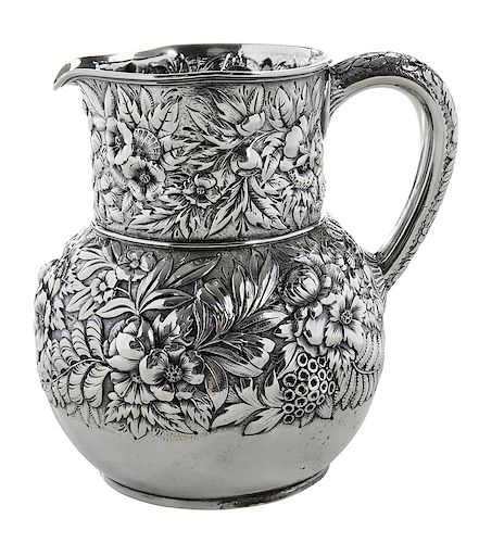 Tiffany Sterling Repousse Pitcher