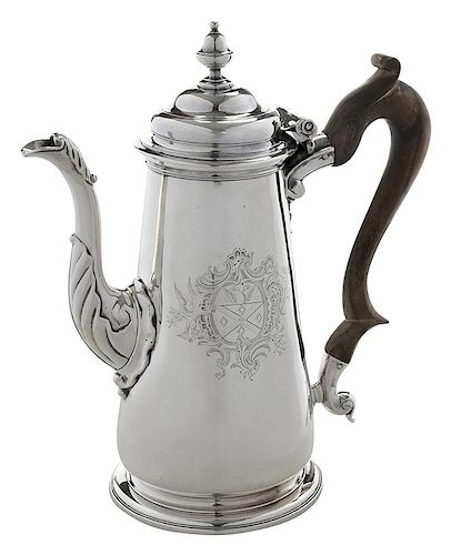 George II English Silver Coffee Pot