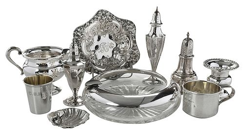 23 Pieces Sterling Table Items