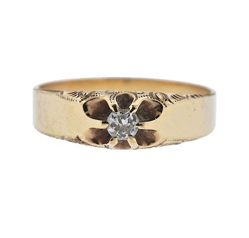 05fc168c035f0 Antique 14k Gold Diamond Ring by Hampton Estate Auction - 1109757 ...