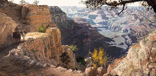 Clark Hulings (1922-2011), Grand Canyon (1970)