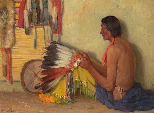 Joseph Henry Sharp (1859-1953), Chief White Paint Mountain
