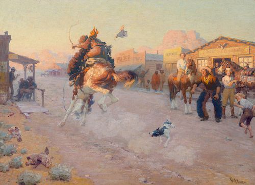 William R. Leigh (1866-1955), Embarrassed (Range Pony in Town) (circa 1910)