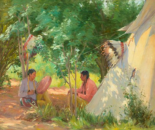 Joseph Henry Sharp (1859-1953), Hunting and War Songs