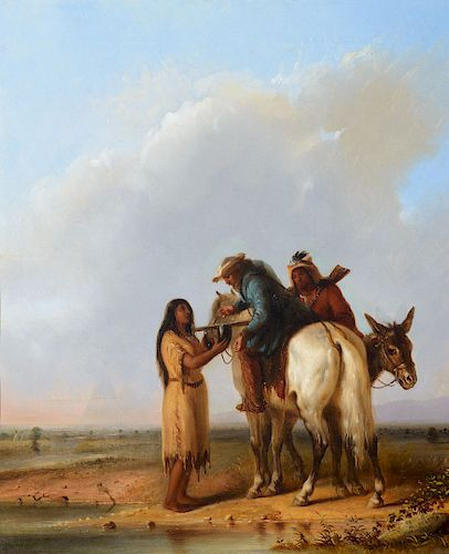 Alfred Jacob Miller (1810-1874), The Thirsty Trapper (1850)