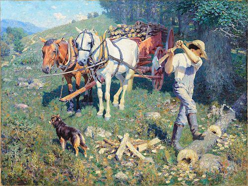 William R. Leigh (1866-1955), West Virginia Woodchopper [or] West Virginia Farm Boy (1903)