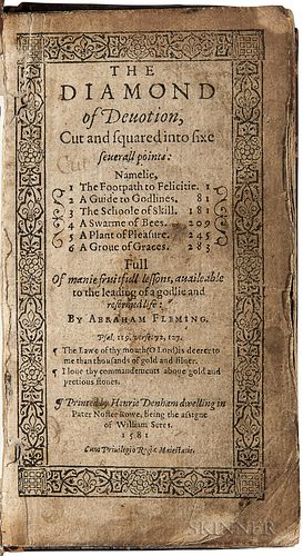 Fleming, Abraham (1552?-1607) The Diamond of Devotion, Cut and Squared into Sixe Severall Points.