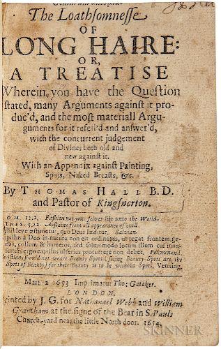 Hall, Thomas (1610-1665) Comarum Akosmia. The Loathsomnesse of Long Haire.