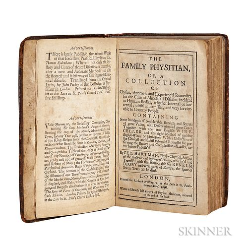 Hartman, George (fl. circa 1696) The Family Physitian, or A Collection of Choice, Approv'd and Experienc'd Remedies.