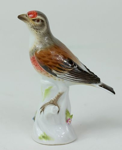 Meissen German Porcelain Finch Figurines