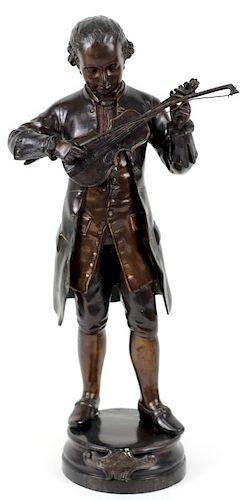 Antique French Bronze Sculpture of Young Mozart