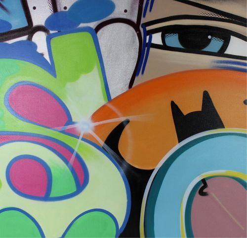 John Crash Matos Untitled Aerosol Painting