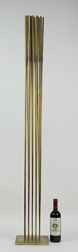 Contemporary 25 Brass Rod Kinetic Sound Sculpture.