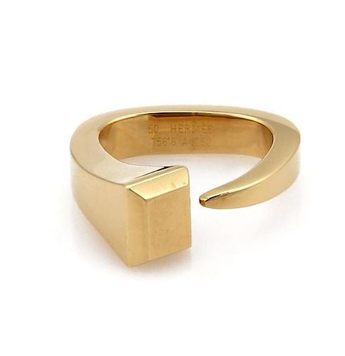 Hermes Juste un Clou 18k Gold Fany Open Ring
