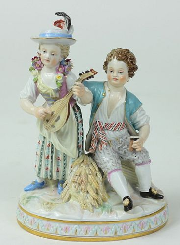 Antique Meissen German Porcelain Figural Grouping