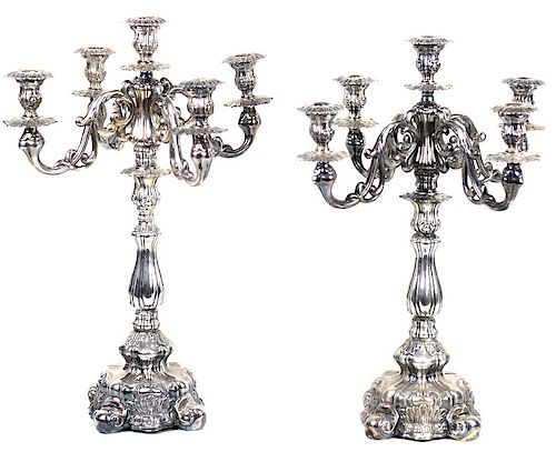 Immaculate Judaica Sterling Silver Candelabras