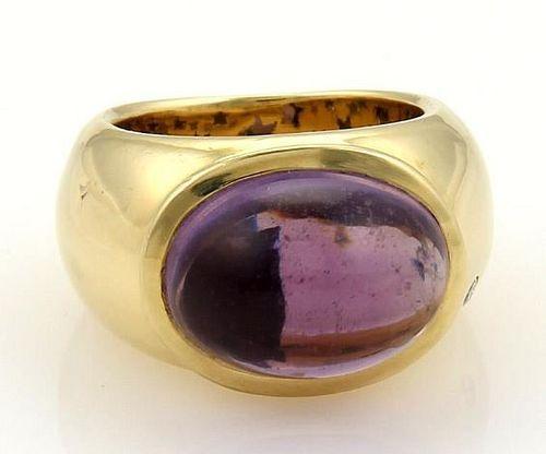 H.Stern Amethyst & Diamond 18k Gold Dome Ring
