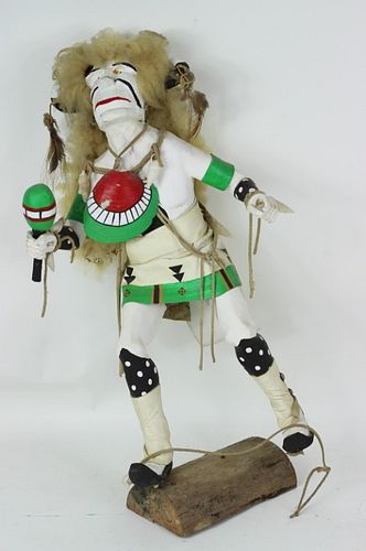 20th C. H/P Carved Wooden Hopi Kachina Doll