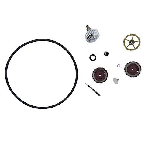 Rolex Crown and Watch Movement Parts Lot