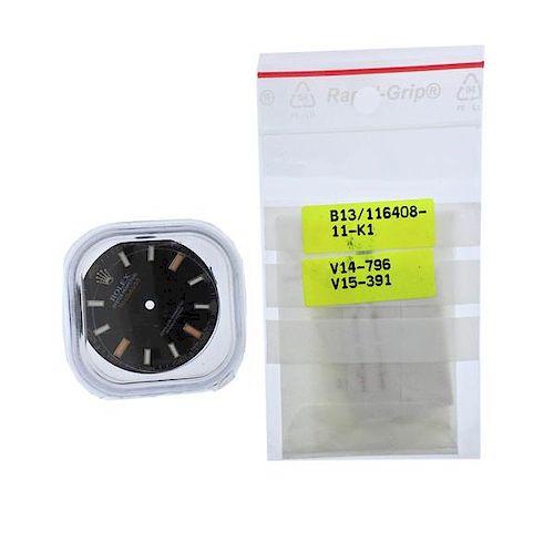 Rolex Milgauss Black Watch Dial Hands Set