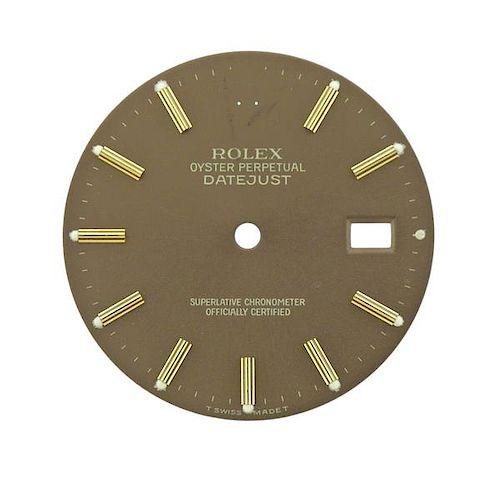 Rolex Datejust Date Watch Dial