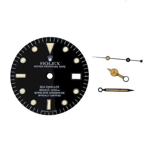Rolex Sea Dweller Date Watch  Black Dial Hands Set 16660