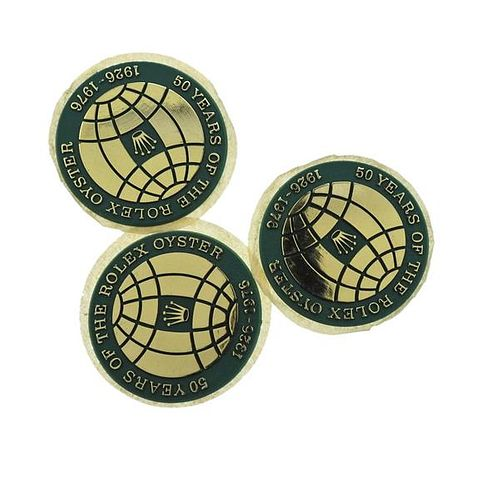 50 Years of Rolex Oyster Anniversary Box Stickers 1926 1976