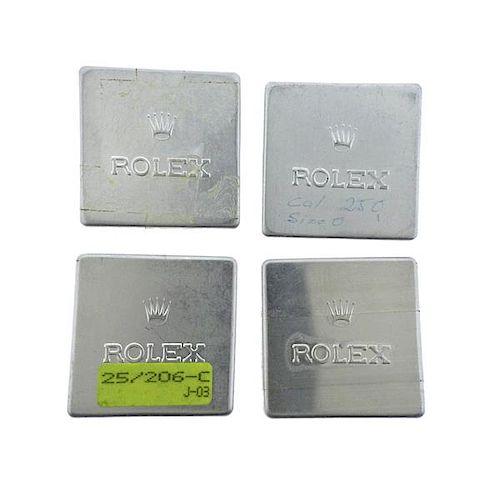 Rolex Aluminum Watch Parts Box Container Lot