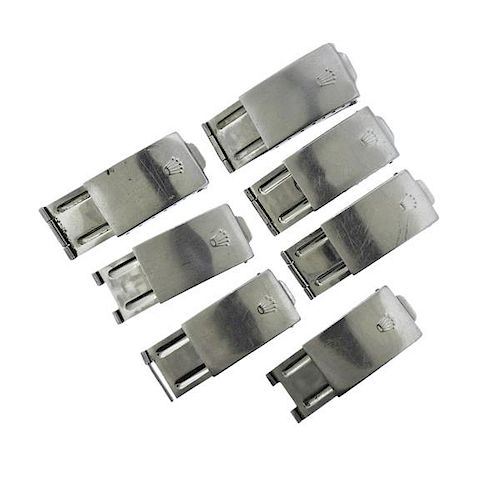 Rolex Watch Stainless Steel Clasp Buckle Lot of 7