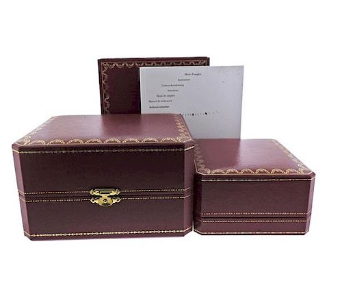 Cartier Watch Box Booklet Lot