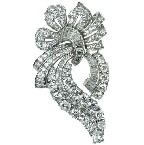 Platinum approx 11.00 carat Diamond Brooch