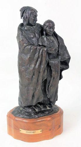 Toscano Native American Indian Bronze Sculpture