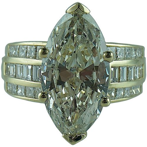 Approx. 7.72 TCW Marquise Engagement Ring.