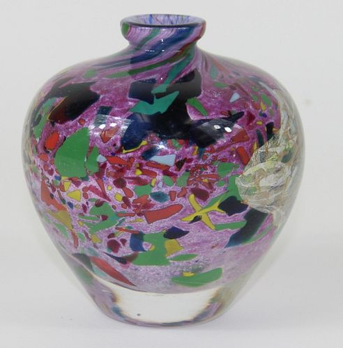 Jean-Claude Novaro; Studio Art Glass Vase.