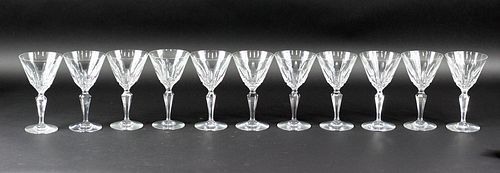 11 Eleven Baccarat Piccadilly Goblets