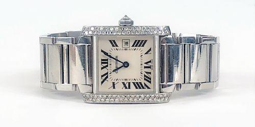 Ladies Cartier Tank Francaise Wrist Watch