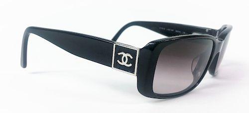 5c81cd63583 Chanel 5115-Q Black Chrome CC Logo Sunglasses by Joshua Kodner ...