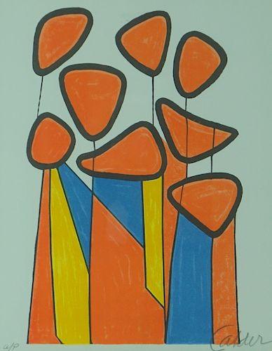 "Alexander Calder ""Squash Blossoms"" Artist Proof"