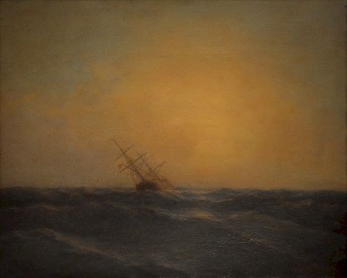 Oil Painting On Board Signed Aivazovsky