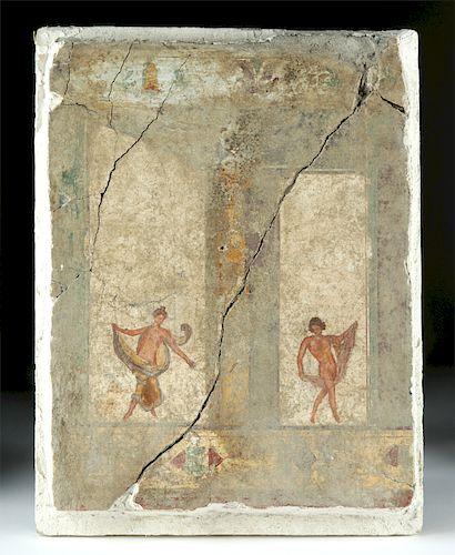 Rare Roman Fresco, Fourth Style Painting