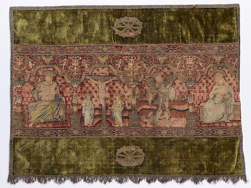 16th/17th C. European Ecclesiastic Textile Panel