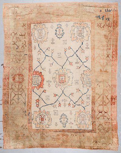 Antique Oushak Rug: 9'8'' x 12'5''