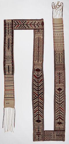 19th C. Yomud Turkmen Tentband: 1'2'' x 39'8''