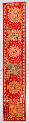 Antique Oushak Rug: 2'9'' x 13'10''